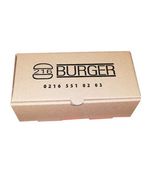 Hamburger Kutusu - 20x10x7